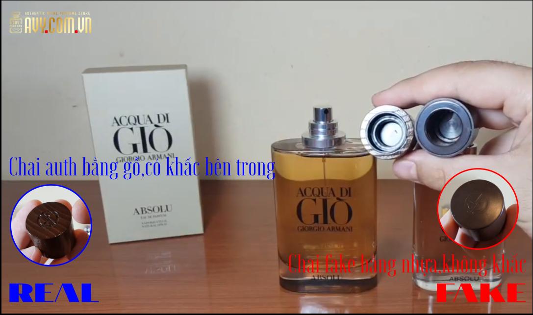 Nhận biết nước hoa Acqua di gio Absolu giả