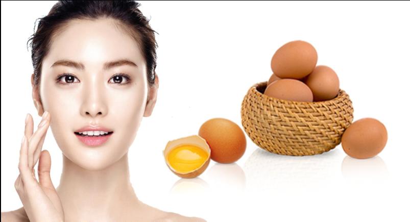 Cách làm trắng da với mặt nạ trứng